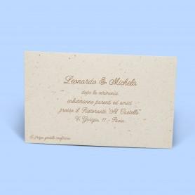 Inviti al ricevimento - Linea Vintage