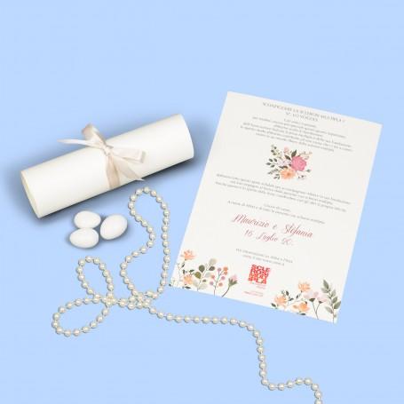 Pergamena Fantasia per Matrimonio
