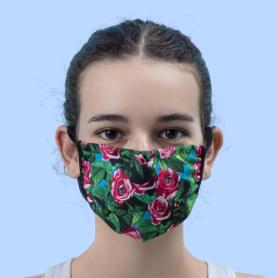 Mascherina Roses + laccetto porta mascherina